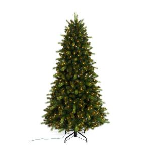 7 5 Ft Pre Lit Braxton Color Changing Artificial Christmas Tree