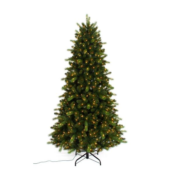 Unbranded 7 5 Ft Pre Lit Braxton Color Changing 8 Function Artificial Christmas Tree With 700 Micro Dot Led Lights W14n0127 The Home Depot