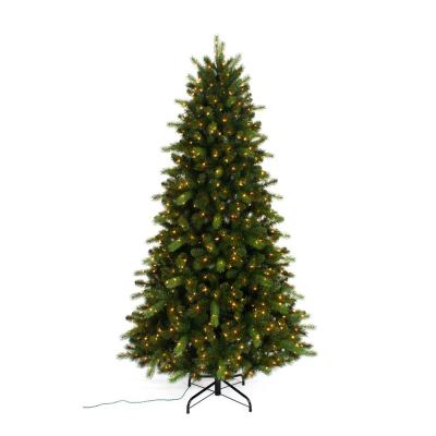 7.5 ft. Pre-Lit Braxton Color Changing 8-Function Artificial Christmas Tree with 700 Micro Dot LED Lights
