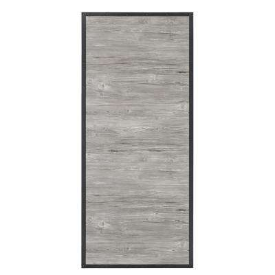 37 in. x 84 in. Shack Prefinished Weathered Wood Look MDF and Pine Core Interior Barn Door Slab