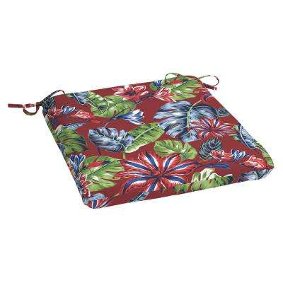Ruby Tropical Rectangle Outdoor Seat Cushion