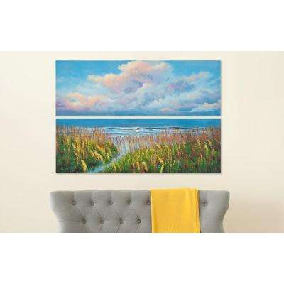 "48 in. x 16 in. ""Beach Walk"" Wall Art"
