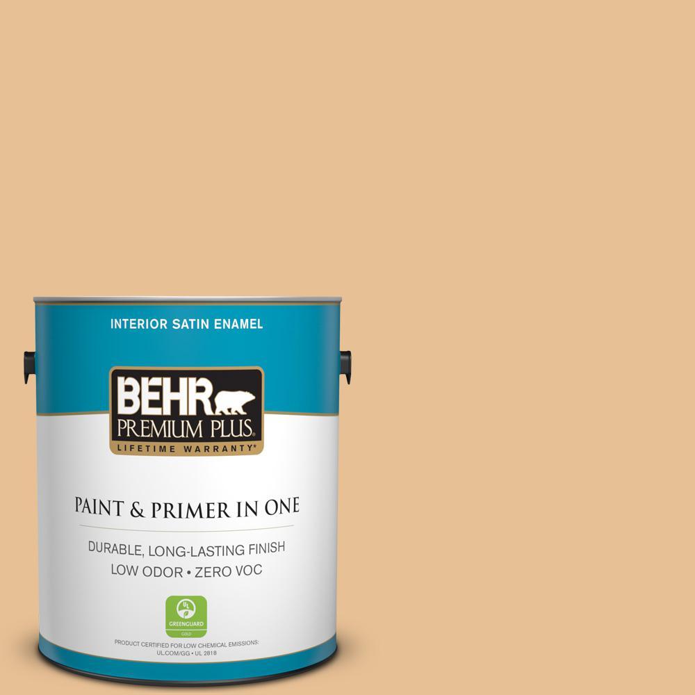 BEHR Premium Plus 1-gal. #M250-3 Apple Turnover Satin Enamel Interior Paint