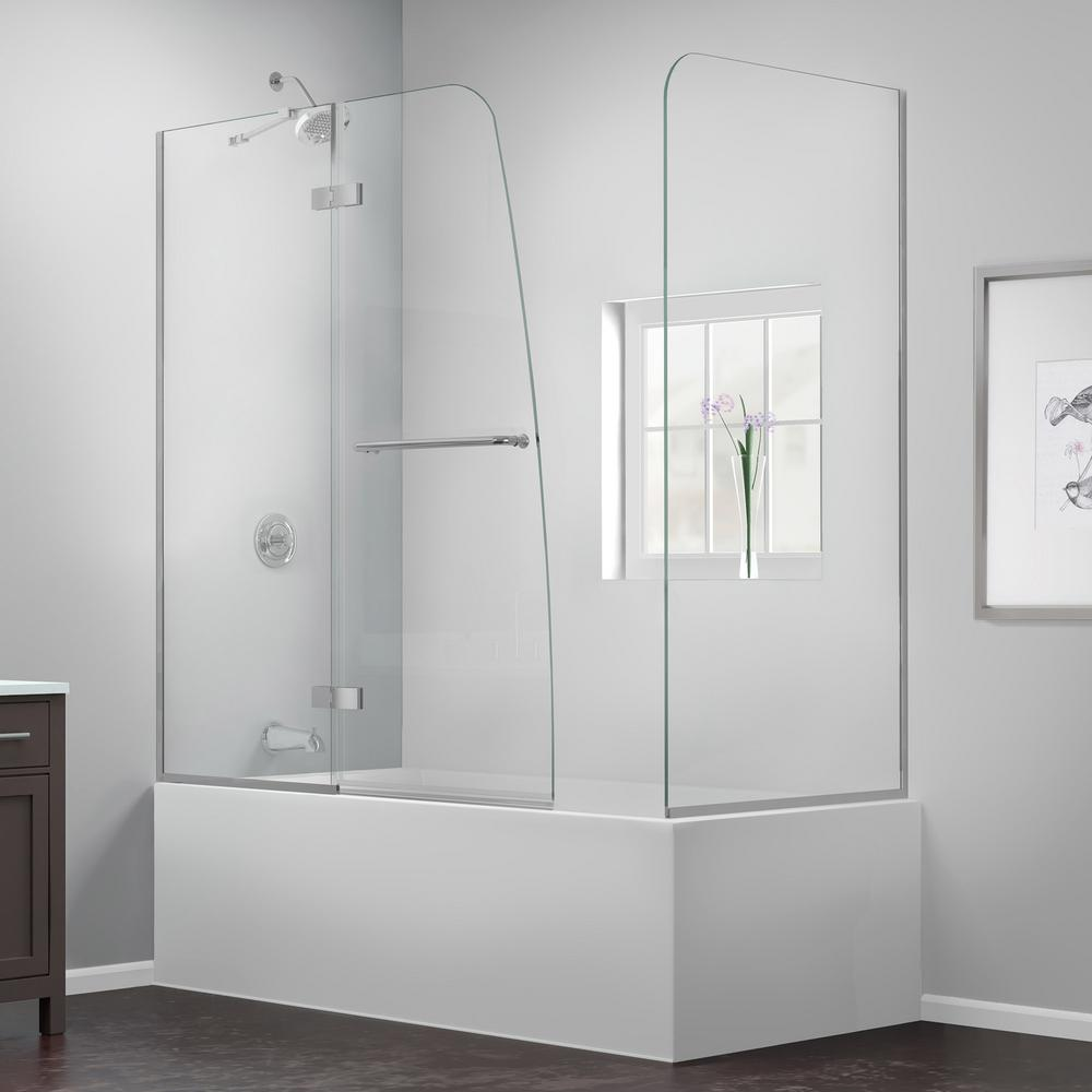DreamLine Aqua Ultra 57 To 60 In. X 58 In. Semi-Frameless