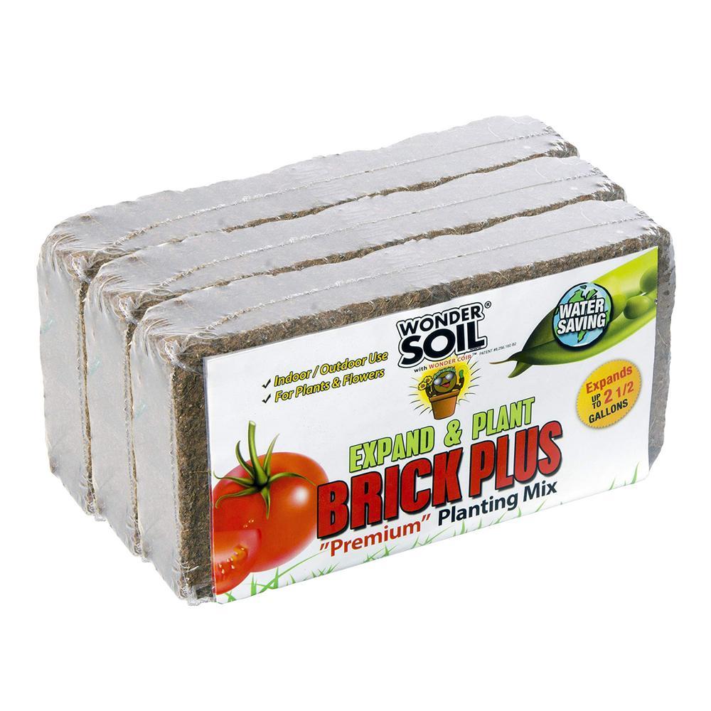 7.5 Gal. Brick Plus Expanding Coco Coir Living Soil (3-Pack)