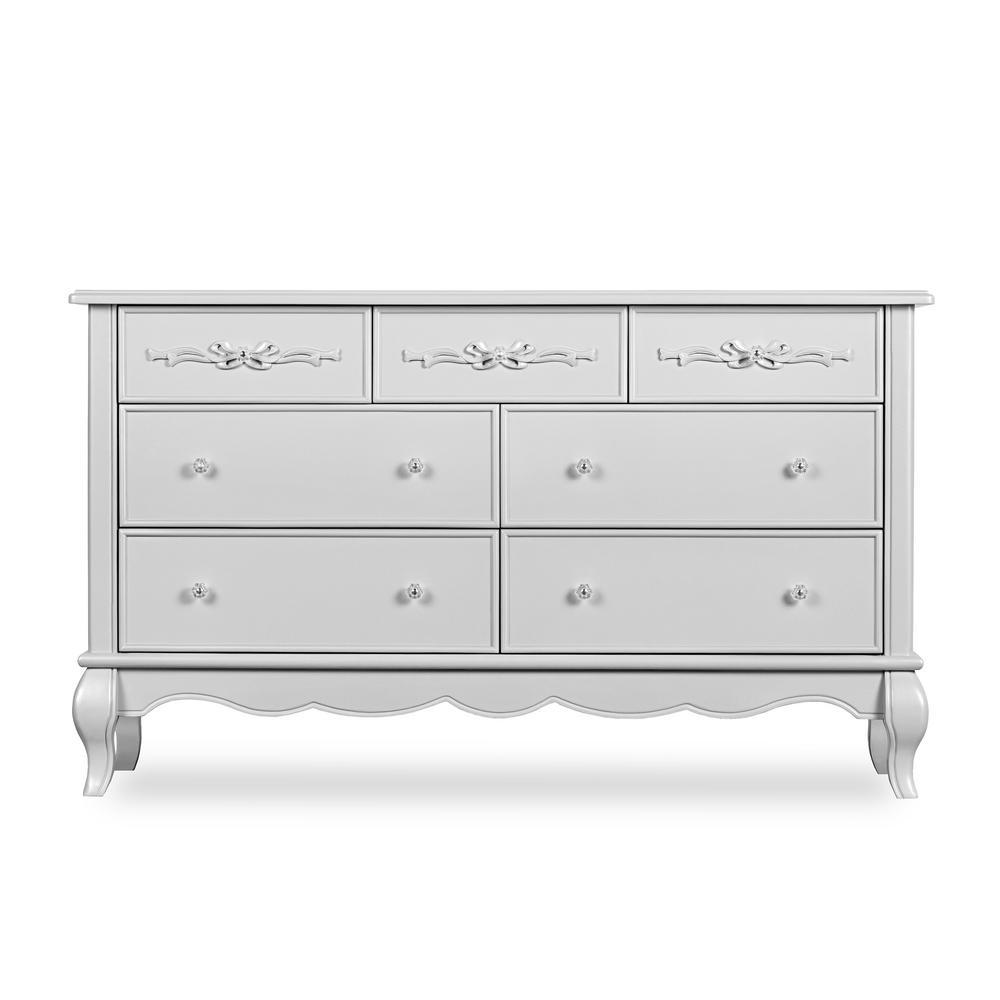 Aurora Akoya Grey Pearl Double Dresser (7-Drawer)