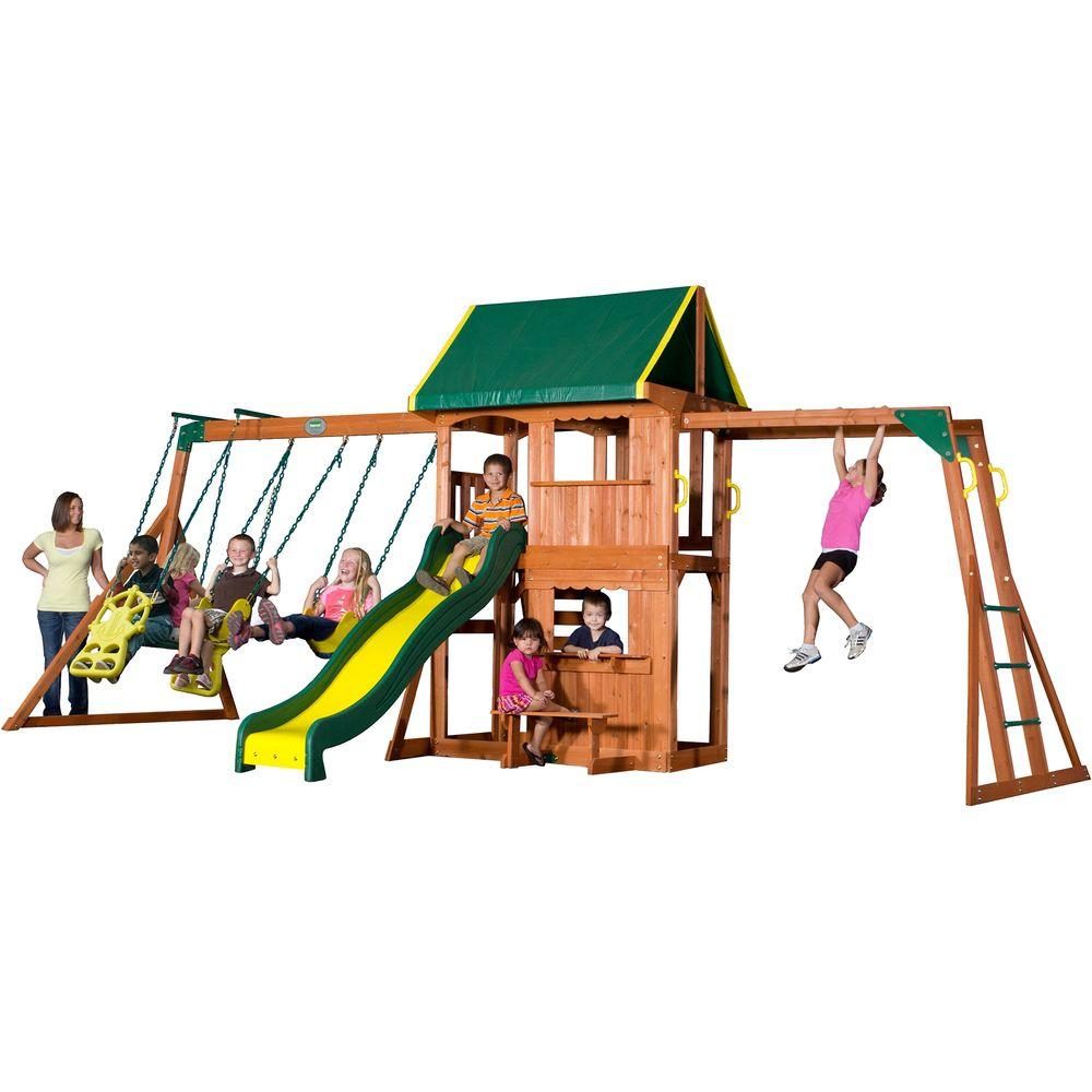 Backyard Discovery Prairie Ridge All Cedar Playset