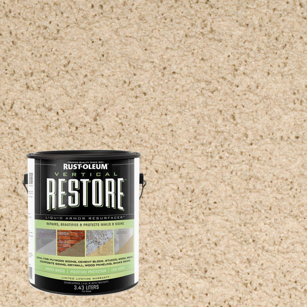 Rust-Oleum Restore 1-gal. Beach Vertical Liquid Armor Resurfacer for Walls and Siding