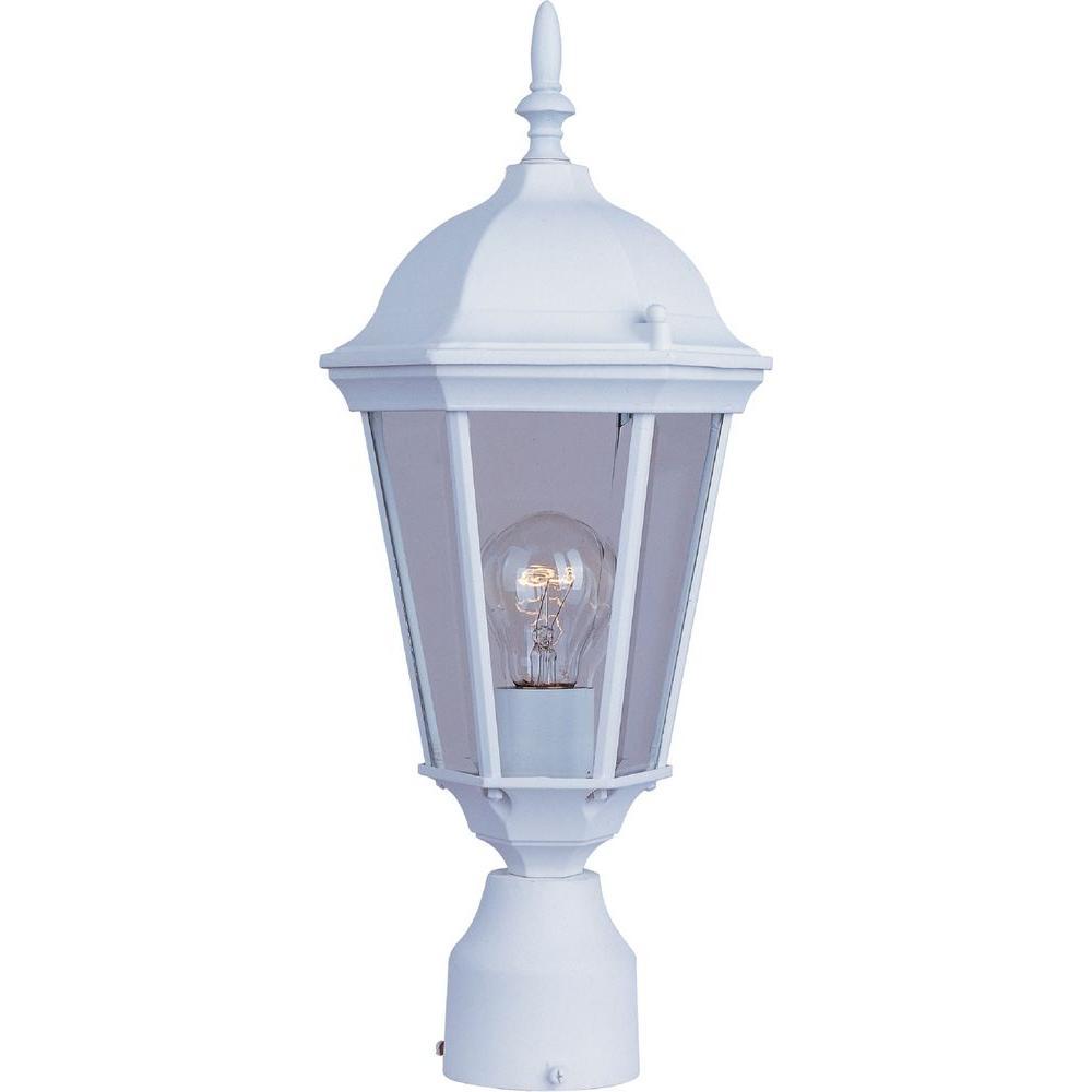 Maxim Lighting Westlake 1-Light White Outdoor Pole/Post Mount