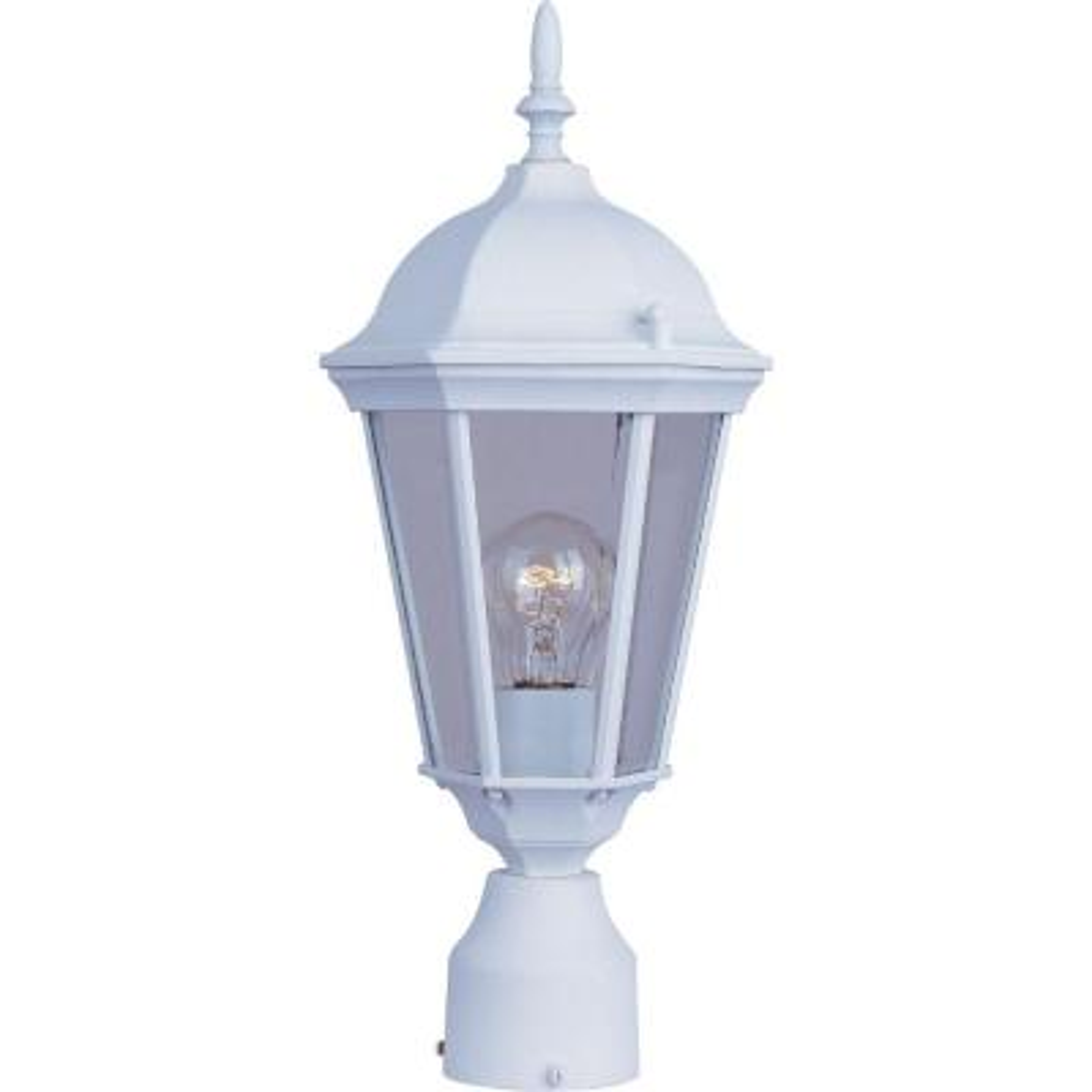Westlake 1-Light White Outdoor Pole/Post Mount