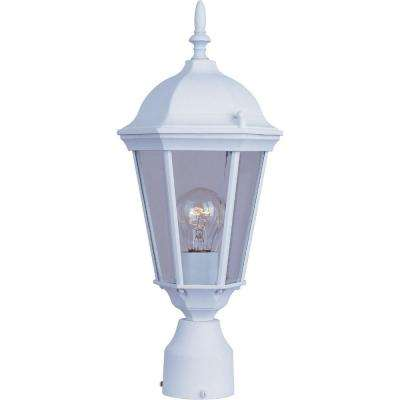 Westlake 1-Light White Outdoor Pole/Post Mount
