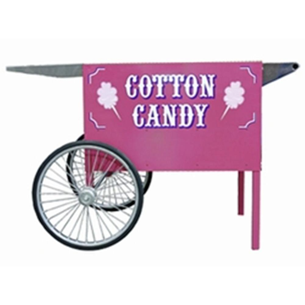 Paragon Deep Well Cotton Candy Cart The New Deep Well Cotton Candy Cart provides ideal machine positioning for serving fresh cotton candy. Constructed of 18-Gauge steel. This cart is designed to uphold operation of any cotton candy machine's performance and powder coated paint for durability.