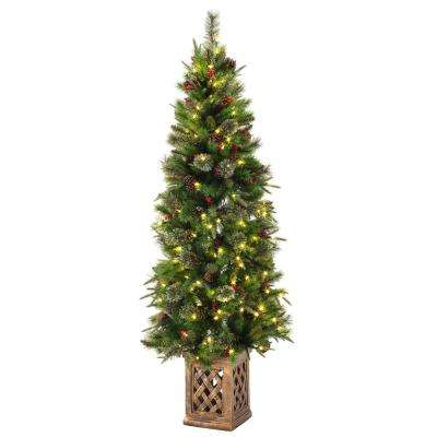 Planter - Pre-Lit Christmas Trees - Artificial Christmas Trees ...