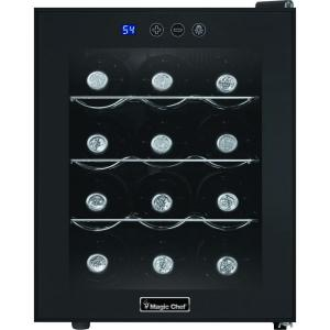 12bottle wine cooler in black