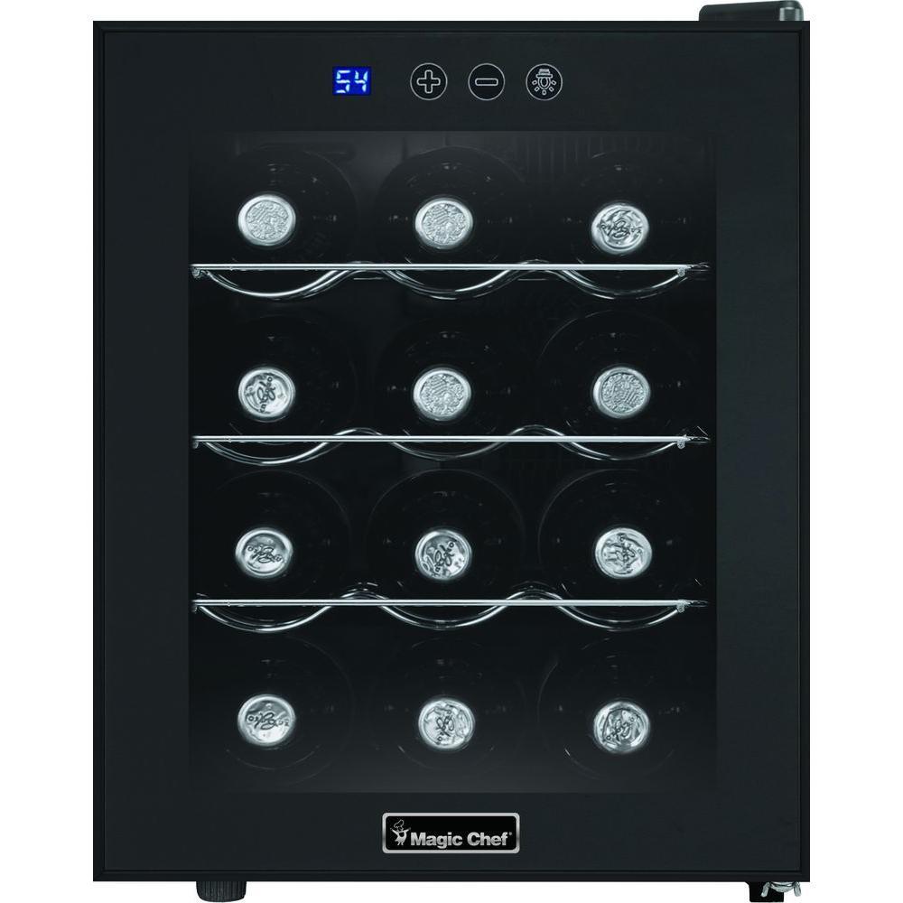 12-Bottle Wine Cooler in Black