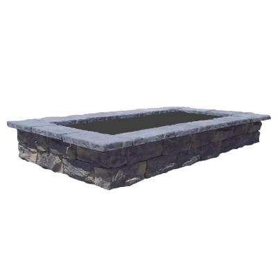107 in. Fossill Limestone Rectangular Concrete Planter