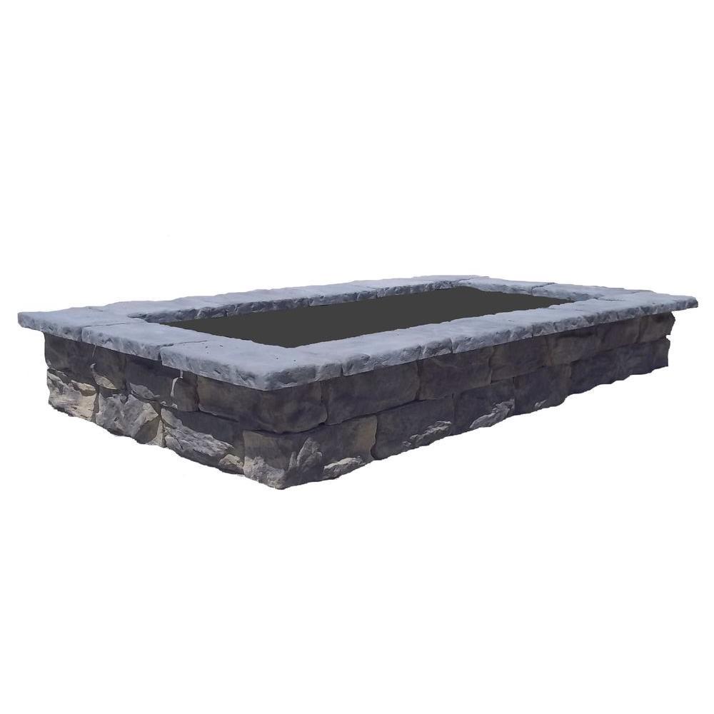 107 in. Fossill Limestone Rectangular Concrete Planter
