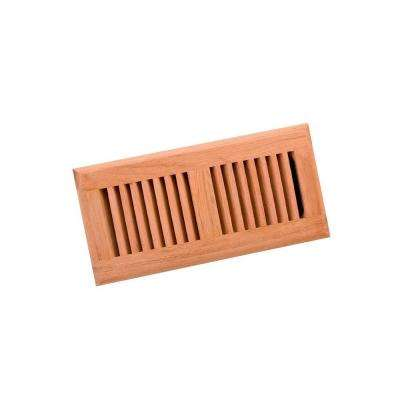 4 in. x 10 in. Wood Brazilian Cherry Unfinished Surface Mount Register