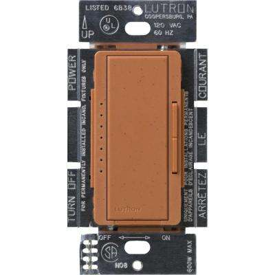 Maestro 600-Watt Multi-Location Electronic Low-Voltage Digital Dimmer, Terracotta
