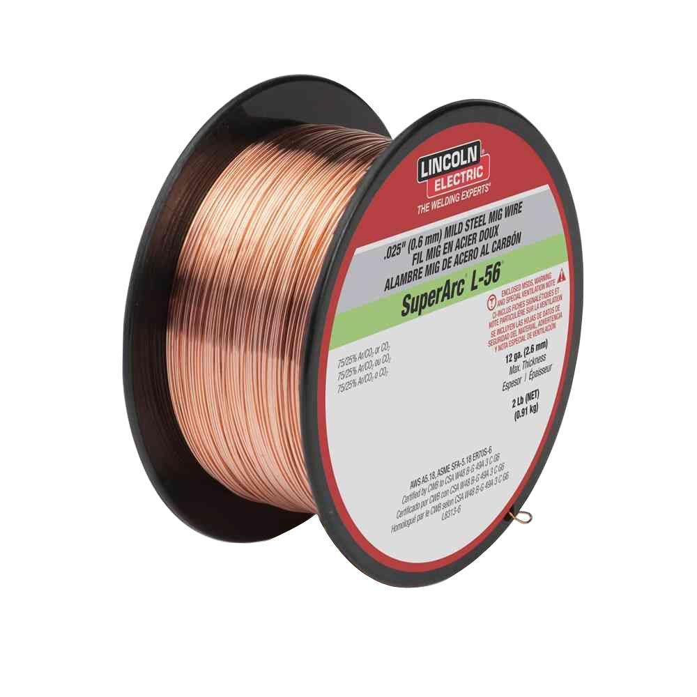 .025 in. SuperArc L-56 ER70S-6 MIG Welding Wire for Mild Steel (2 lb. Spool)