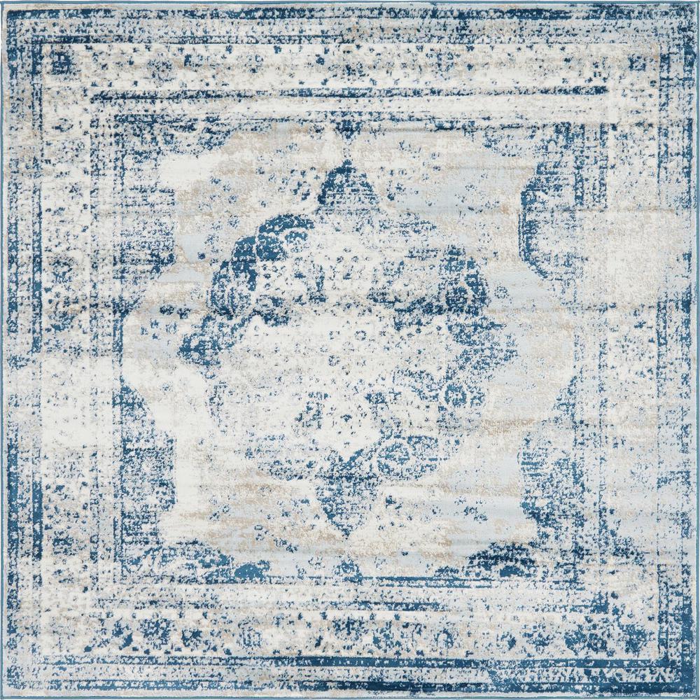 Sofia Salle Garnier Blue 8' 0 x 8' 0 Square Rug