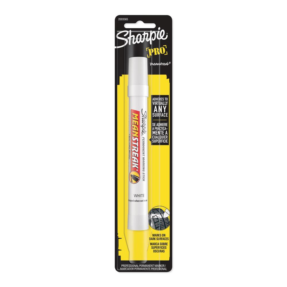 White 2PK Sharpie Mean Streak Permanent Marking Stick,Bullet Marker Point Style