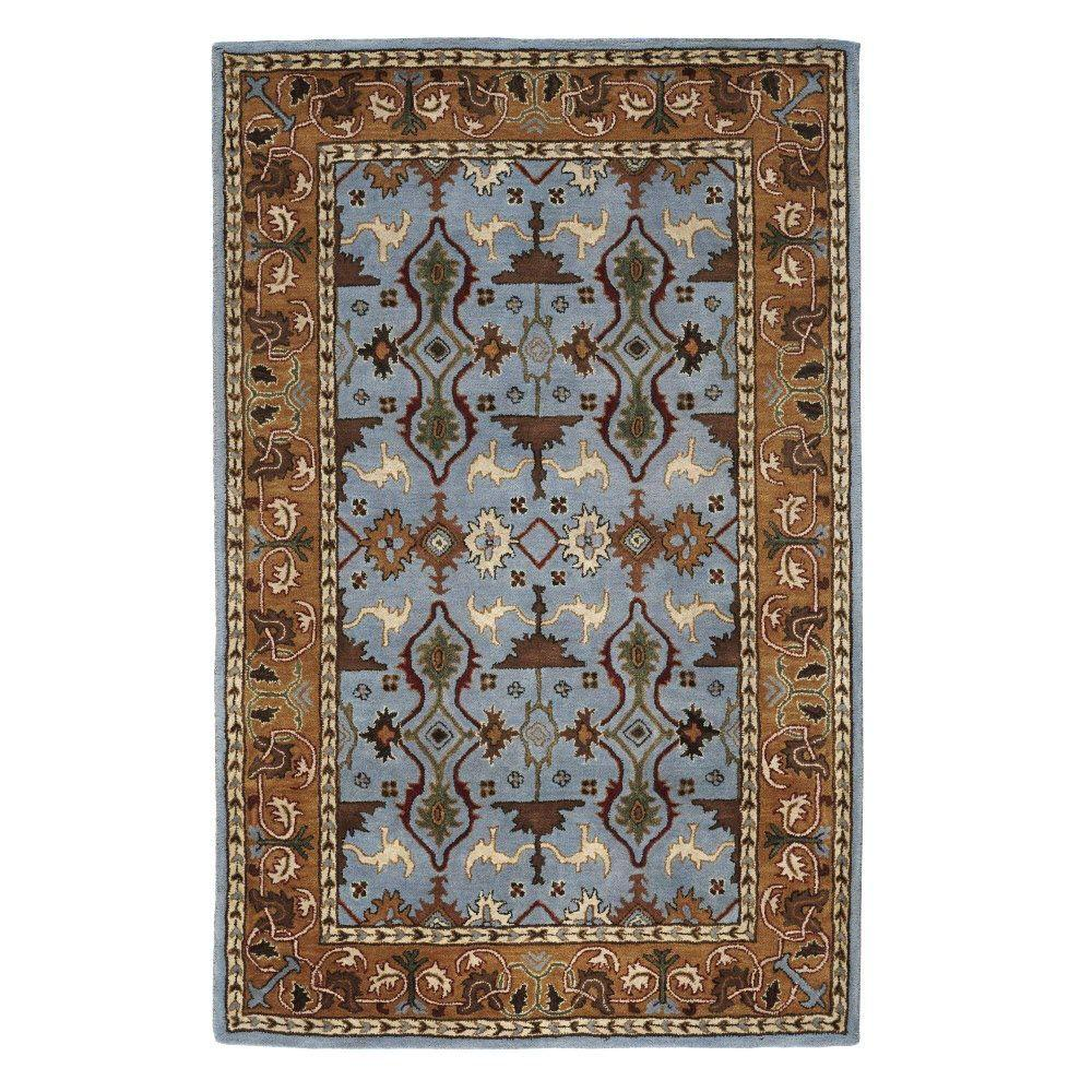 Home Decorators Collection Merci Blue 4 ft. x 6 ft. Area Rug