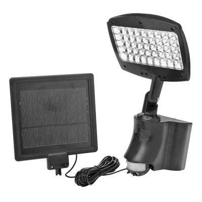 13.5-Watt 180-Degree Black Motion Activated Outdoor Integrated LED Security Flood Light with Rechargable Solar Panel