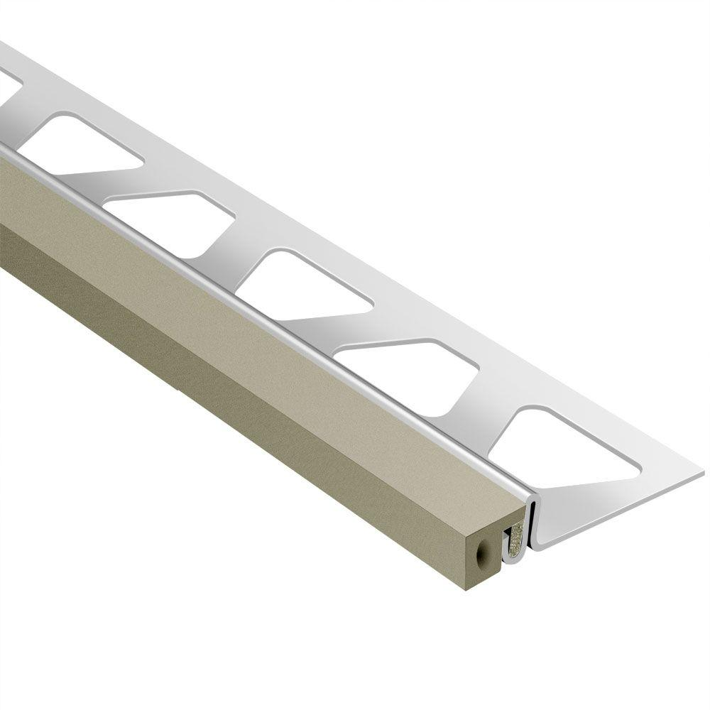 Dilex-KSA Stainless Steel with Grey Insert 17/32 in. x 8 ft.