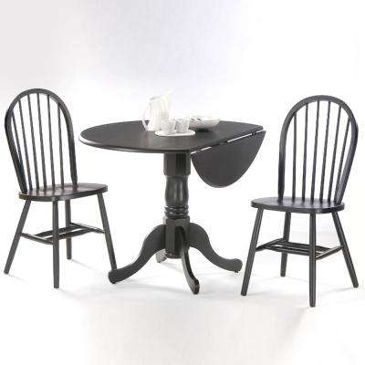 Black Wood Spindle Back Windsor Dining Chair