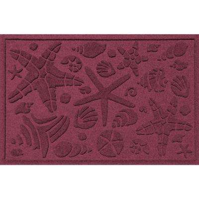 Bordeaux 24 in. x 36 in. Beachcomber Polypropylene Door Mat