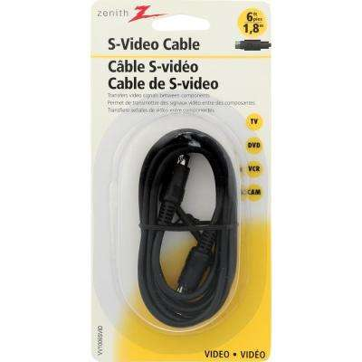 6 ft. S-Video Cable, Black