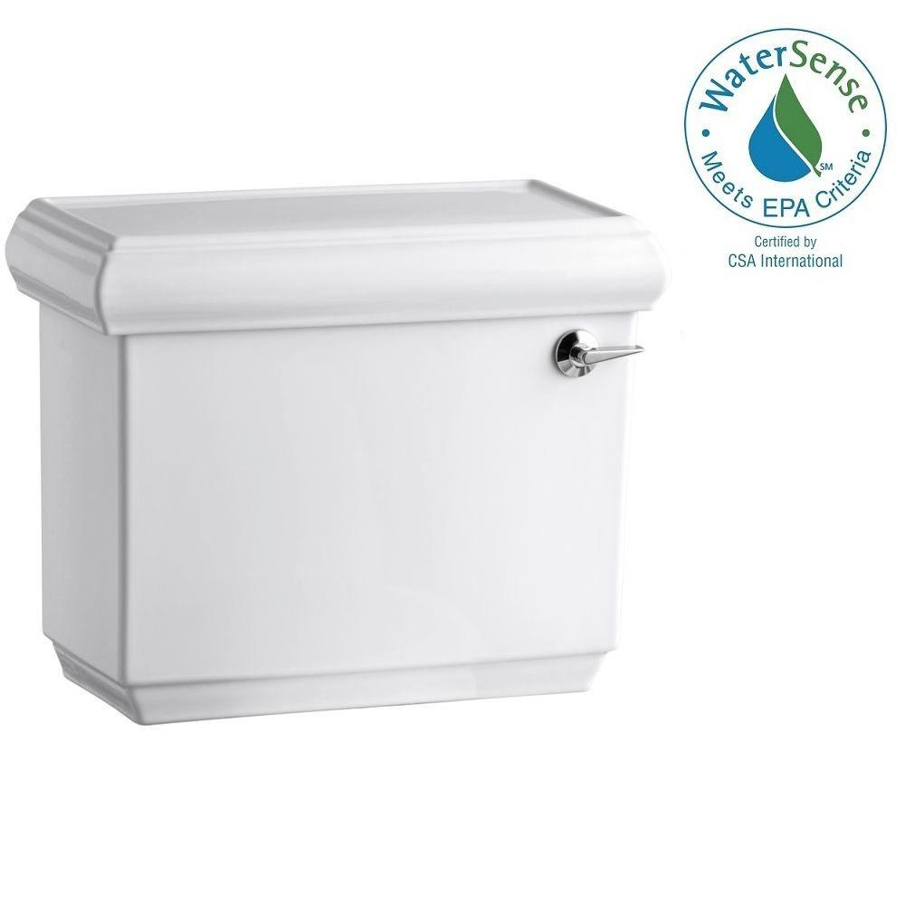 KOHLER Memoirs Classic 1.28 GPF Single Flush Toilet Tank Only with Right Hand Trip Lever and AquaPiston Flush in White