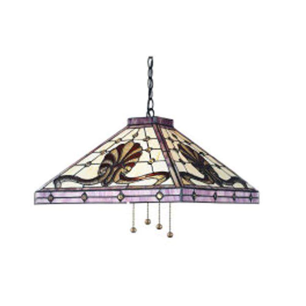 Tulen Lawrence 4 Light Ceiling Antique Brass Incandescent Pendant-DISCONTINUED