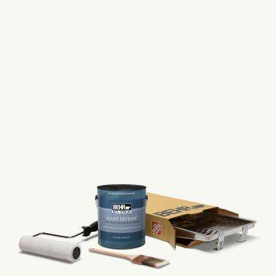 1 gal. PPU18-6 Ultra Pure White Extra Durable Satin Enamel Interior Paint and 5-Piece Wooster Set All-in-One Project Kit