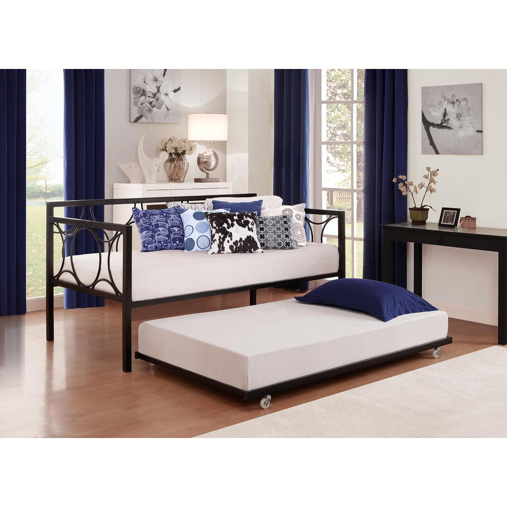 DHP Universal Daybed Twin Size Trundle in Black - DHP Universal Daybed Twin Size Trundle In Black-5585196 - The Home