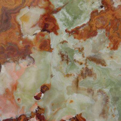Green 12 in. x 12 in. Polished Onyx Floor and Wall Tile (10 sq. ft. / case)