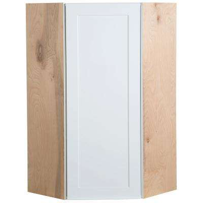Cambridge Assembled 23.64x42x11.75 in. Corner Wall Cabinet in White
