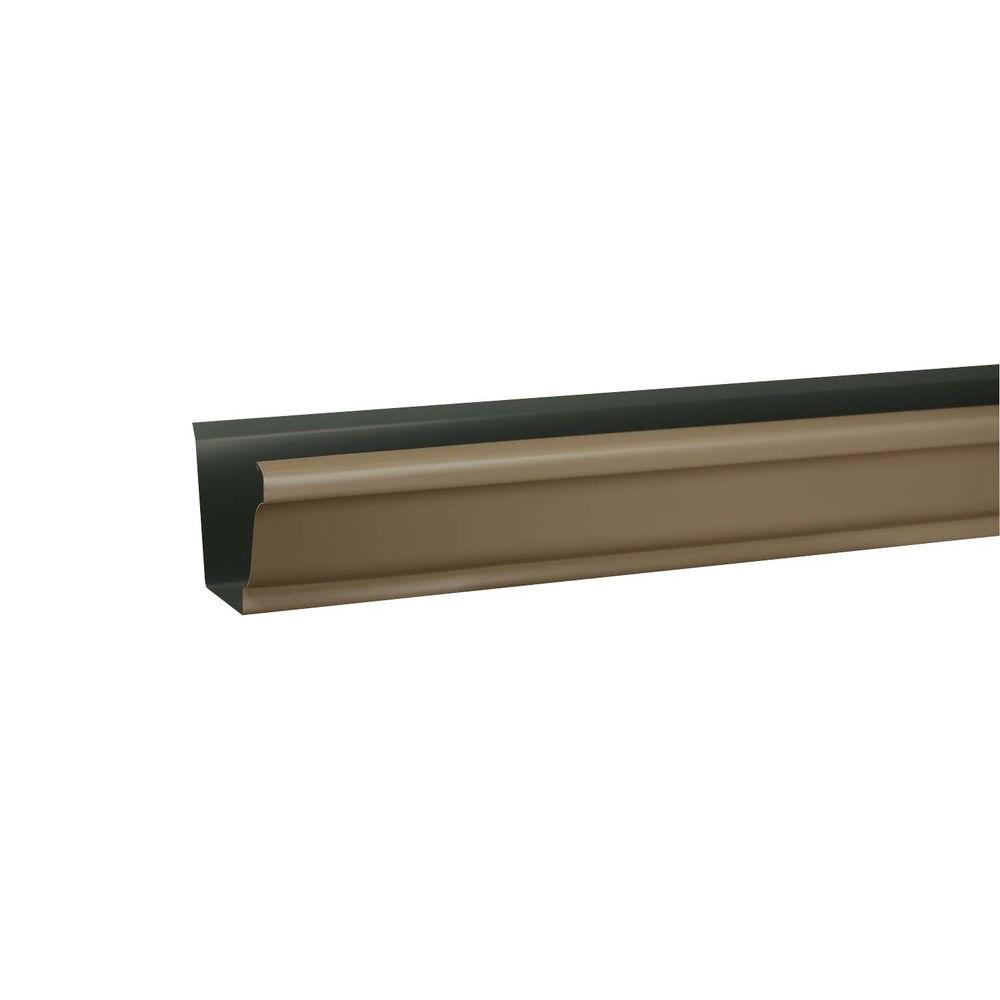 5 in. x 10 ft. K-Style Natural Clay Aluminum Gutter