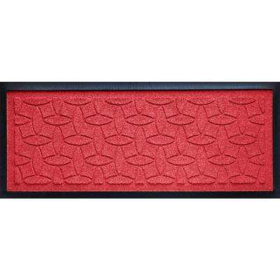 Solid Red 15 in. x 36 in. Ellipse Boot Tray