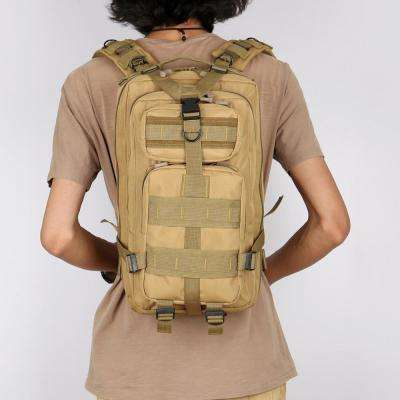 FK9251 30L 3P Outdoor Marching Knapsack Tactical 9 in. Wolf Brown Backpack