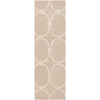 Carlota Safari Tan 3 ft. x 8 ft. Runner Rug