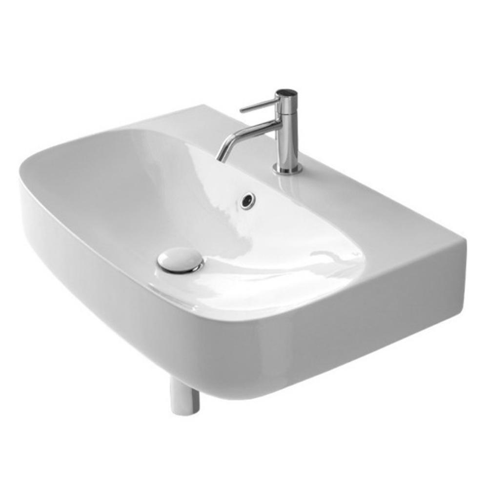 Nameeks Moon Wall Mounted Bathroom Sink In White Scarabeo