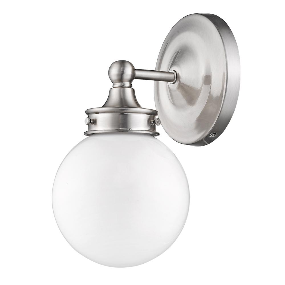 Swell Acclaim Lighting Fairfax 6 In 1 Light Satin Nickel Wall Sconce With White Globe Shade Home Interior And Landscaping Fragforummapetitesourisinfo
