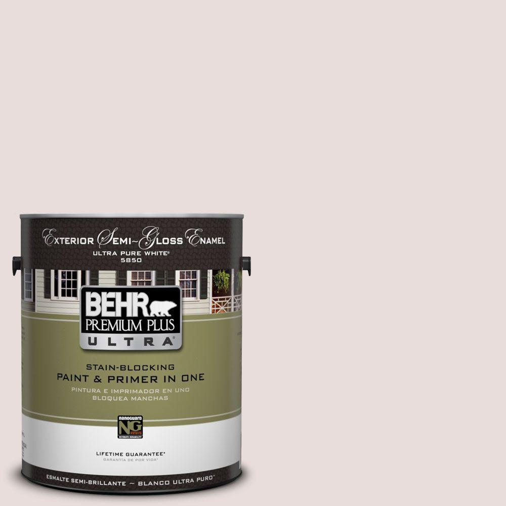 BEHR Premium Plus Ultra 1-Gal. #UL120-14 Pale Cashmere Semi-Gloss Enamel Exterior Paint