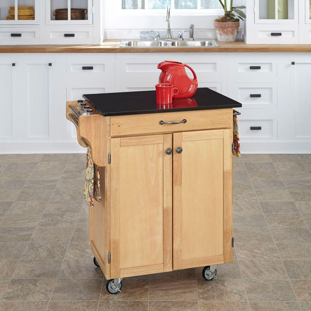 Home styles grand torino black kitchen island with storage for Home styles natural kitchen cart with storage