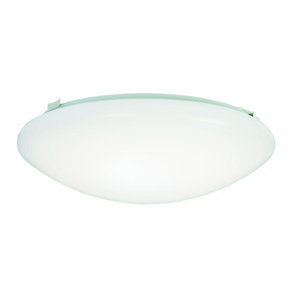 60 Watt White Low Profile Integrated LED Round Ceiling Flushmount Light