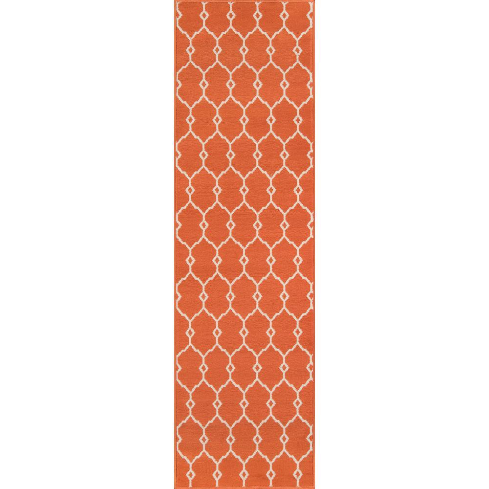 Baja Trellis Orange 2 ft. 3 in. x 7 ft. 6 in. Indoor/Outdoor Runner