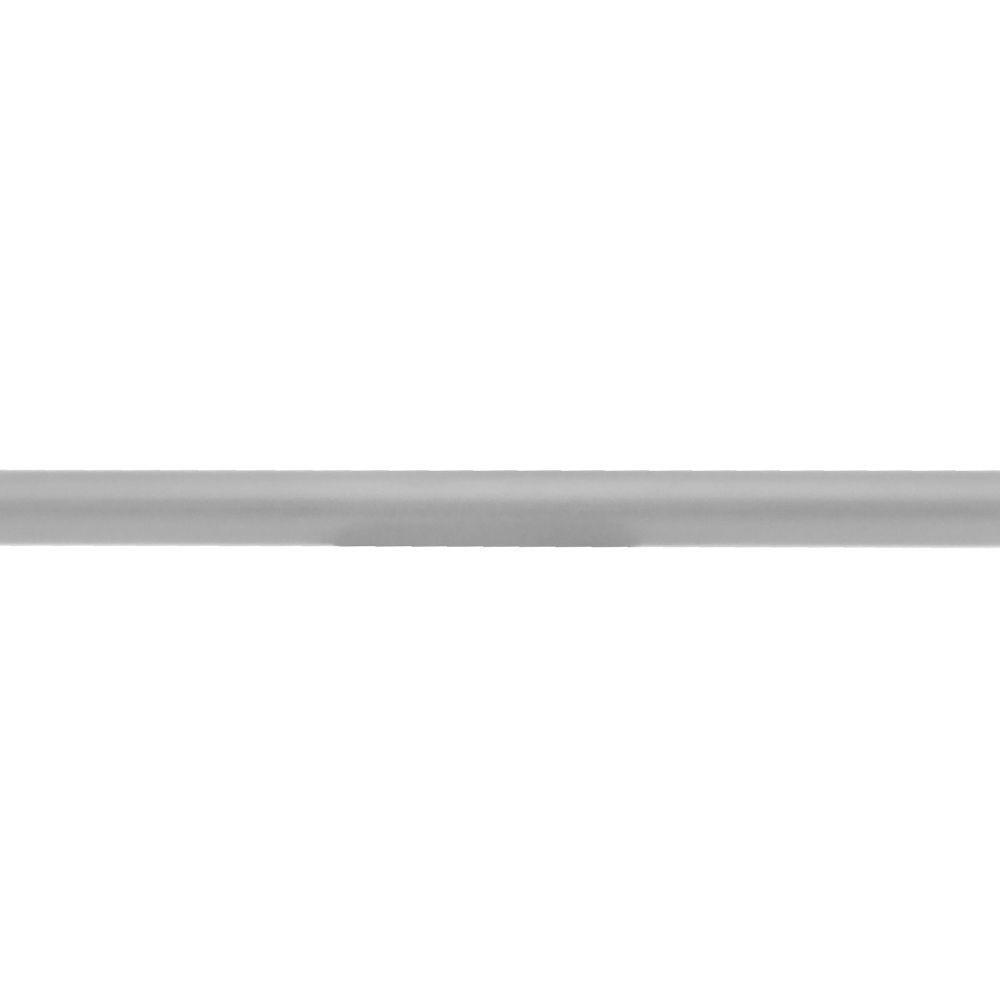 Quiet Glide 1 in. x 1 in. x 72 in. Satin Nickel Rail