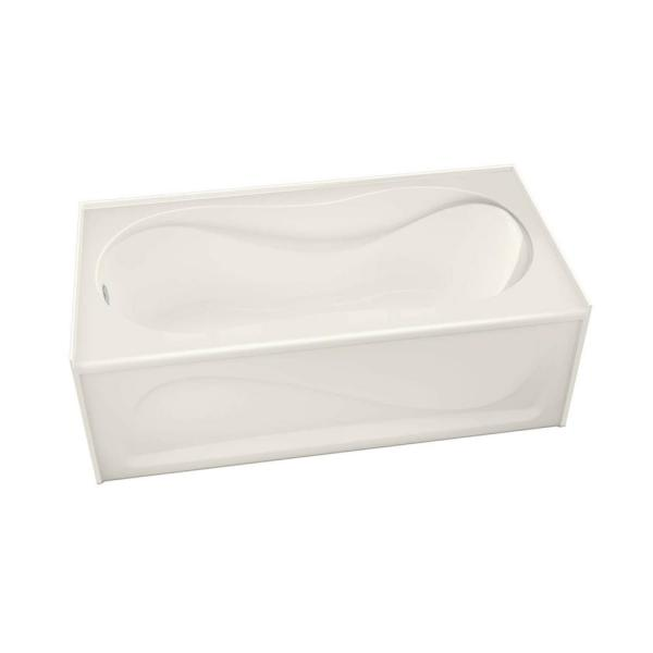 Cocoon 60 in. Acrylic Left Hand Drain Rectangular Apron Front Bathtub in Biscuit